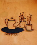 Coffee sign on wall Royalty Free Stock Photography