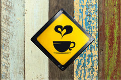 Coffee sign on wall Stock Image