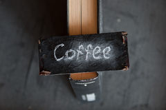 Coffee sign Royalty Free Stock Image
