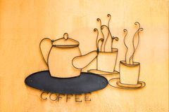 Coffee sign Royalty Free Stock Photos