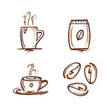 Coffee signs set Stock Image