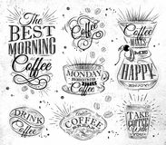 Coffee signs Stock Image