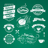 Coffee signs set Royalty Free Stock Photos