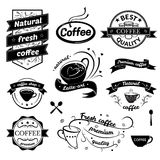 Coffee signs set. Retro typography, business restaurant logos Royalty Free Stock Photography