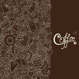 Coffee Sketch Notebook Doodles. Royalty Free Stock Photo