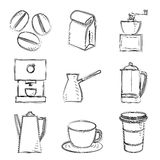 Coffee sketches Royalty Free Stock Photography