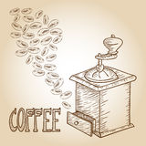 Coffee sketchyl illustration Royalty Free Stock Photo