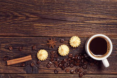 Coffee and small cookies Royalty Free Stock Photo