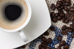 Coffee. Small cup of black coffee Royalty Free Stock Photo