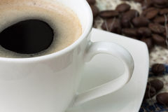 Coffee. Small cup of black coffee Stock Photography