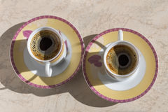Coffee in small cups. Stock Photography