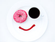 Coffee with smile Stock Image