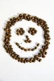 Coffee Smile. Smile made of coffee beans Stock Photos
