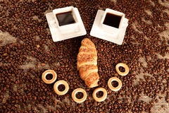 Coffee smile Stock Image