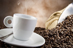 Coffee smocking Royalty Free Stock Photo
