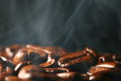 Coffee in smoke Stock Photos