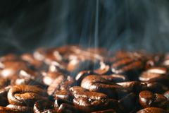 Coffee in smoke Stock Photography