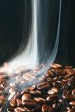 Coffee in smoke Stock Image