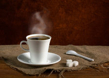 Coffee with smoke Royalty Free Stock Photography