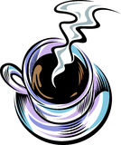 Coffee with smoke Royalty Free Stock Photos
