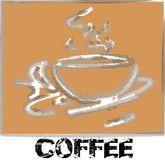 Coffee smoke logo royalty free stock photo