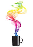 Coffee with smoke, vector Stock Photo
