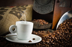 Coffee smoking Royalty Free Stock Images