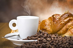 Coffee smoking Stock Photo