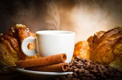 Coffee smoking Stock Photo