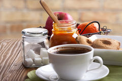 Coffee and snacks Royalty Free Stock Photo