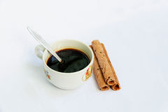 Coffee and snacks Stock Images
