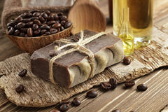 Coffee soap Stock Photo