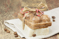 Coffee soap Stock Photography