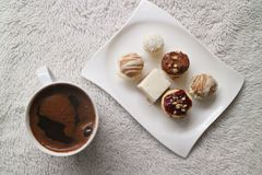 Coffee and soft cookies. royalty free stock photos