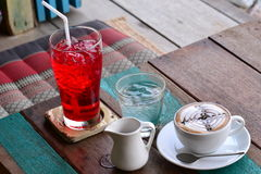 Coffee and soft drink Royalty Free Stock Photos