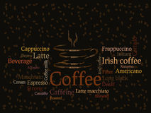 Coffee sorts background Royalty Free Stock Photo