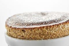 Coffee Souffle. Close up shot of light and fluffy coffee souffle in white ramekin Stock Photography