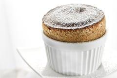 Coffee Souffle. Light and fluffy coffee souffle in white ramekin Stock Photography