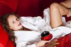 Coffee in spa Royalty Free Stock Image