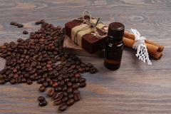 Coffee spa treatment Stock Images