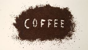 Coffee Spelled Out in Ground Coffee stock image