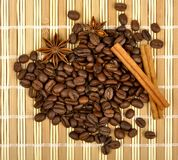 Coffee and spices Royalty Free Stock Image