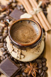 Coffee and spices Stock Image