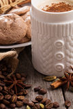 Coffee, spices and chocolate meringue cookies Royalty Free Stock Image