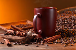 Coffee and spices Stock Photos