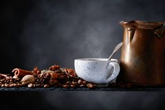 Coffee with spices. Royalty Free Stock Photography