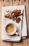 Coffee with spices Stock Photo