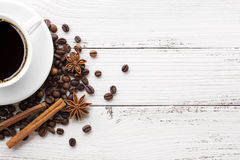 Coffee and spices on white background Stock Image