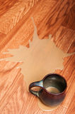 Coffee spill Stock Images