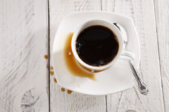 Coffee spill Royalty Free Stock Images